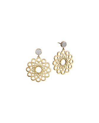 Dot 18k Gold & Diamond Drop Earrings
