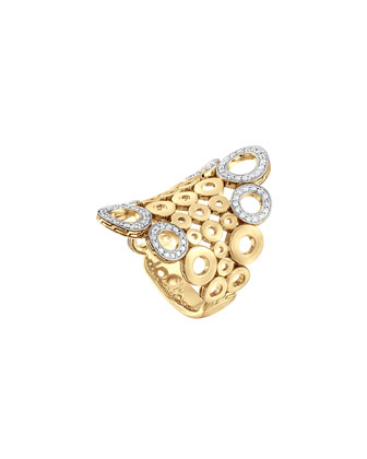 Dot 18k Gold & Diamond Saddle Ring