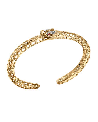 Batu Naga 18k Gold & Diamond Slim Dragon Cuff