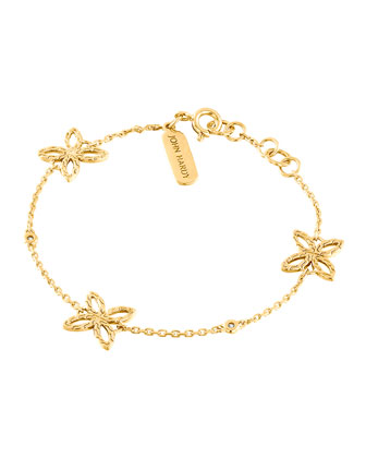 Kawung 18k Gold & Diamond Station Bracelet