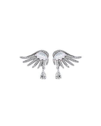 Vesta Diamond & Mother-of-Pearl Earrings
