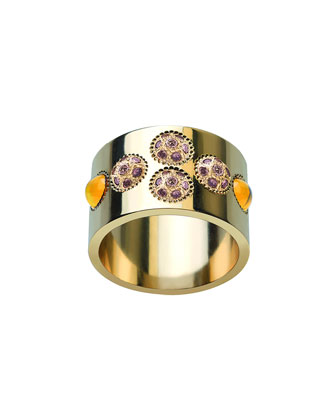 Petillante 18k Champagne Diamond Wide Ring