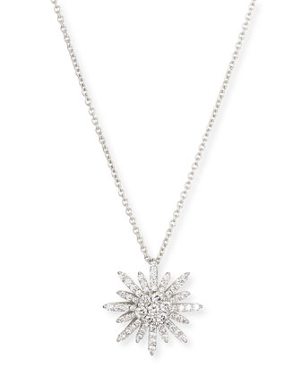 Starburst Diamond Pendant Necklace, 18