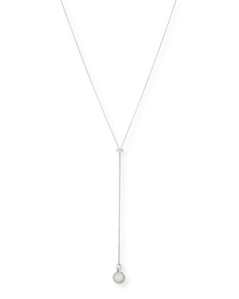 Diamond Sphere Pendant Y-Necklace
