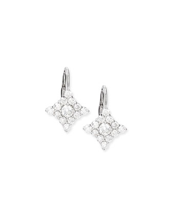 Diamond-Shape Cluster Drop Earrings