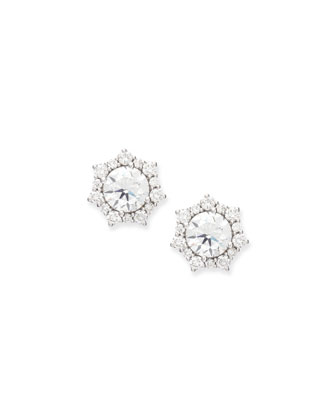 Sunshine Halo Diamond Stud Earrings