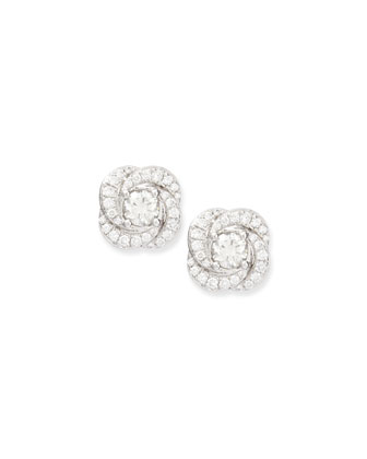 Swirl Diamond Stud Earrings