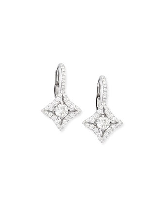 Diamond-Shape Drop Earrings