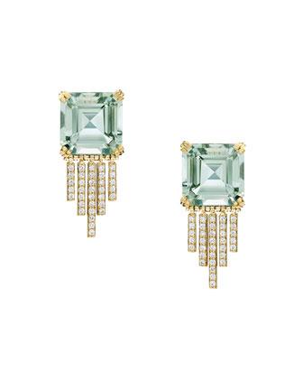 Empire Prasiolite Fringe Earrings