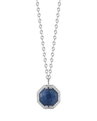 Patras Octagonal Sapphire Pendant Necklace