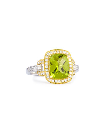Roma Peridot & Diamond Ring