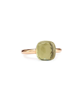 Nudo Rose Gold & Prasiolite Ring, Medium