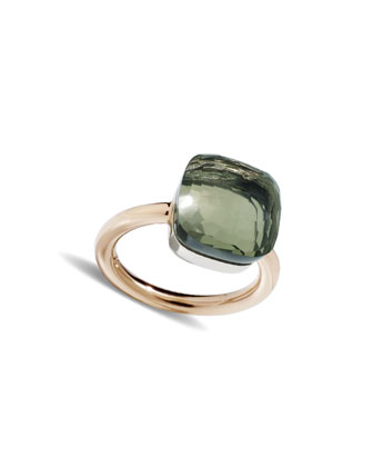 Nudo Rose Gold & Prasiolite Ring, Grande