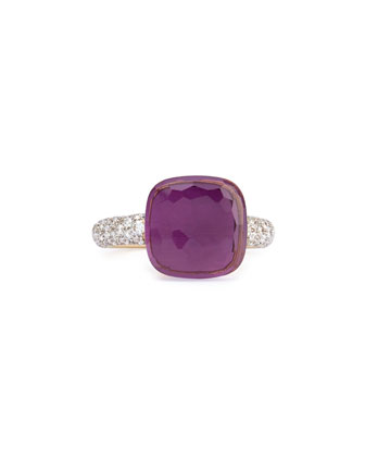 Nudo Rose Gold & Amethyst Diamond Ring, Grande