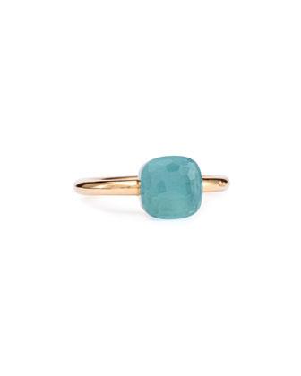 Nudo Rose Gold & Blue Topaz Ring, Mini