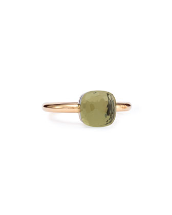 Nudo Rose Gold & Prasiolite Ring, Mini