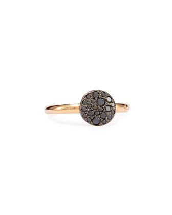 Sabbia Rose Gold & Black Diamond Ring