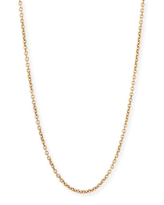 Sabbia Rose Gold Cable Chain Necklace, 18