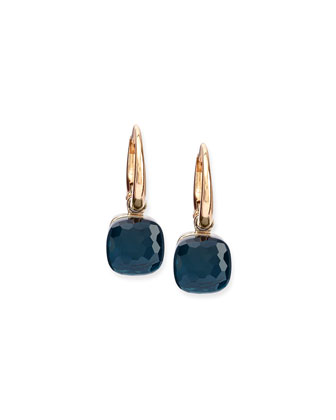 Nudo London Blue Topaz Small Drop Earrings