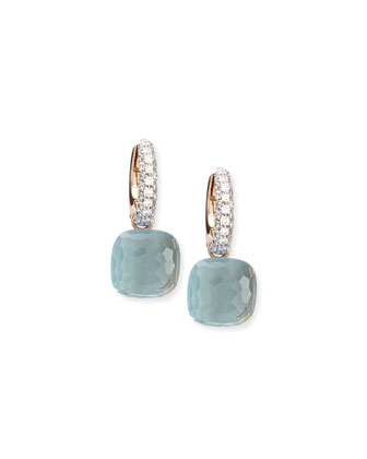 Nudo Blue Topaz Diamond Drop Earrings