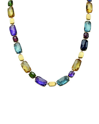 Murano Mixed-Stone Collar Necklace, 17