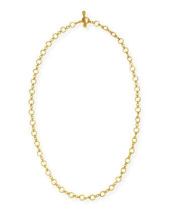 Riviera 19k Gold Link Necklace, 31