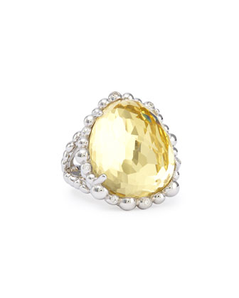 Molten Crystal Ring with Diamonds