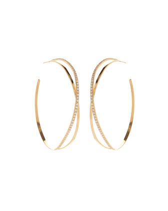 Flawless Vol. 2 Crossover Diamond Hoop Earrings