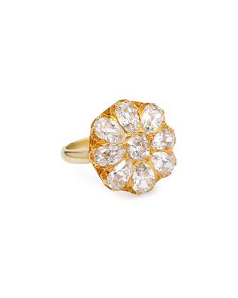 Estate Victorian Diamond Cluster Ring, Size 7.5