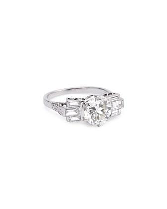 Estate Art Deco Round-Cut Diamond Ring, Size 7