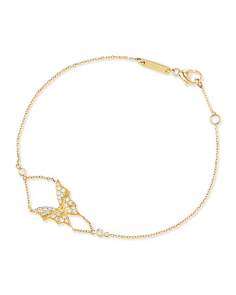 Fly By Night 18k Gold Bat-Moth Bracelet