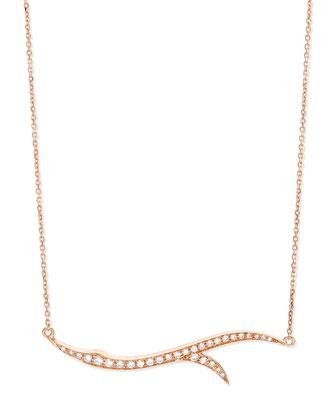 18k Rose Gold & Diamond Thorn Pendant Necklace