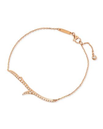 18k Rose Gold & Diamond Thorn Bracelet
