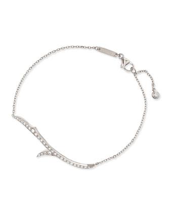 18k White Gold & Diamond Thorn Bracelet