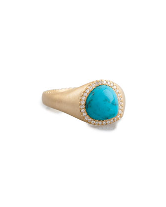 Bisou Turquoise Ring with Diamonds