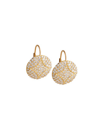 Large Disc Earrings with Diamonds