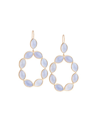 Linked Marquise Chalcedony Earrings