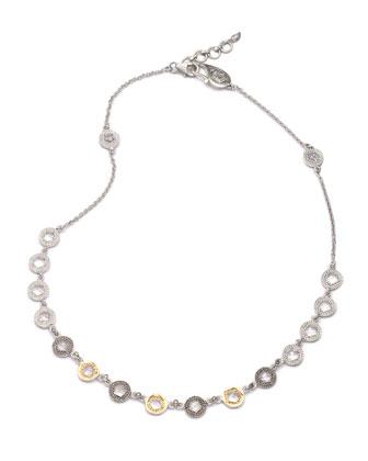 Opera Crystal & Diamond Short Necklace