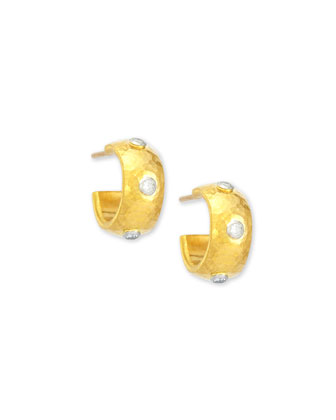Celestial 24k Gold & Diamond Huggie Hoop Earrings