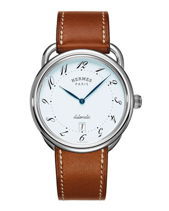 Herm??s Timepieces Arceau automatic watch on a Barenia strap