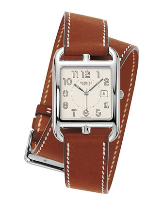 Herm??s Timepieces Cape Cod Watch on a Double Tour Natural Barenia Calf ...