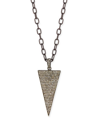 Triangle Diamond Dagger Long Necklace