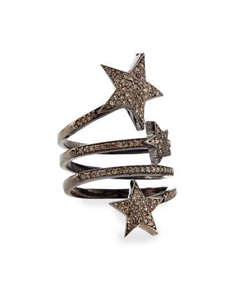Triple Star Diamond Ring, Size 6.5