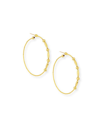 Rain 24k Gold Large Hoop Earrings