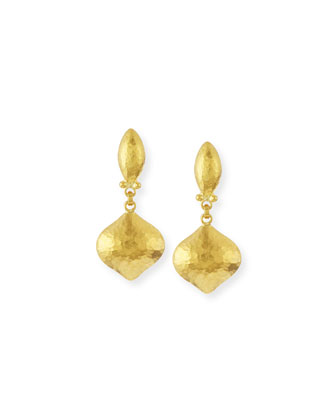 Clove 24k Gold Drop Earrings