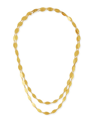 Willow 24k Gold Long Single-Strand Necklace, 40