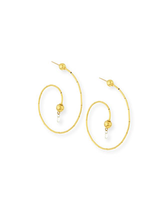 Dew G-Spring 24k Gold Diamond Briolette Earrings