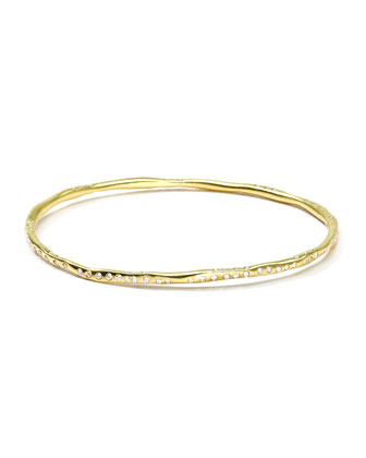 Diva 18k Gold Bangle with Diamonds