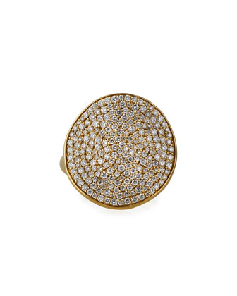 Stardust 18k Gold Floral Ring with Diamonds, Size 7
