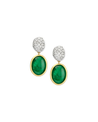 Siviglia Emerald & Diamond Drop Earrings